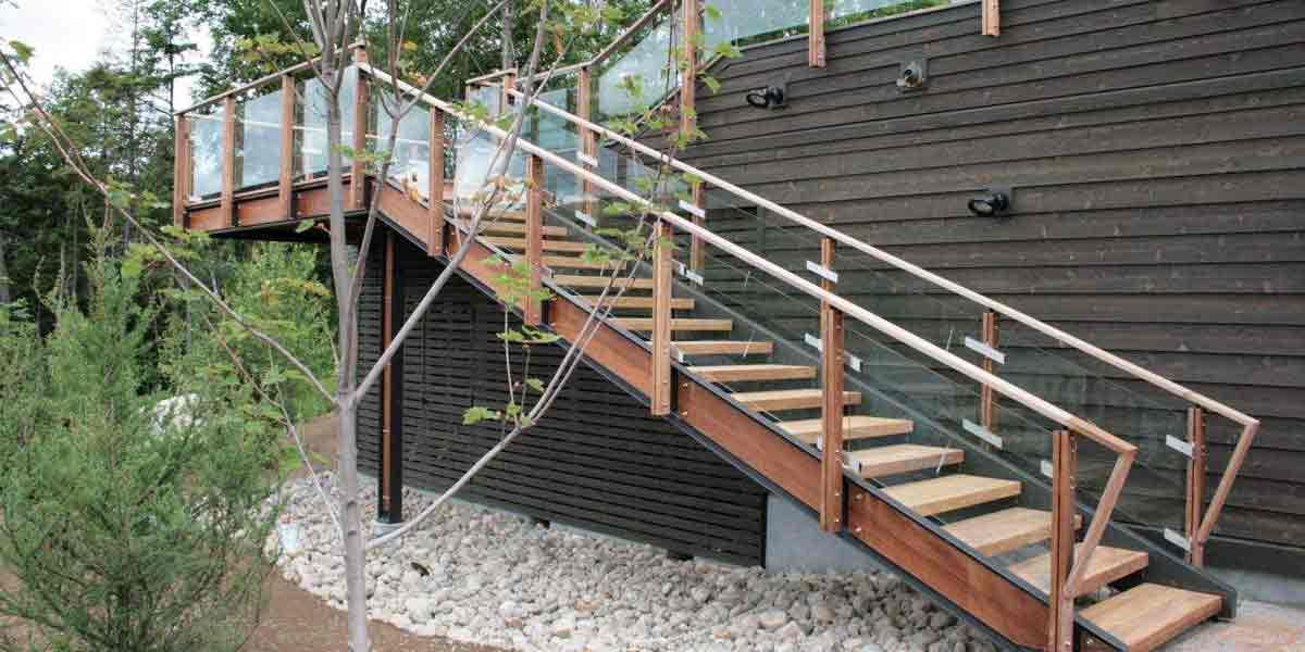 钢木楼梯GM02